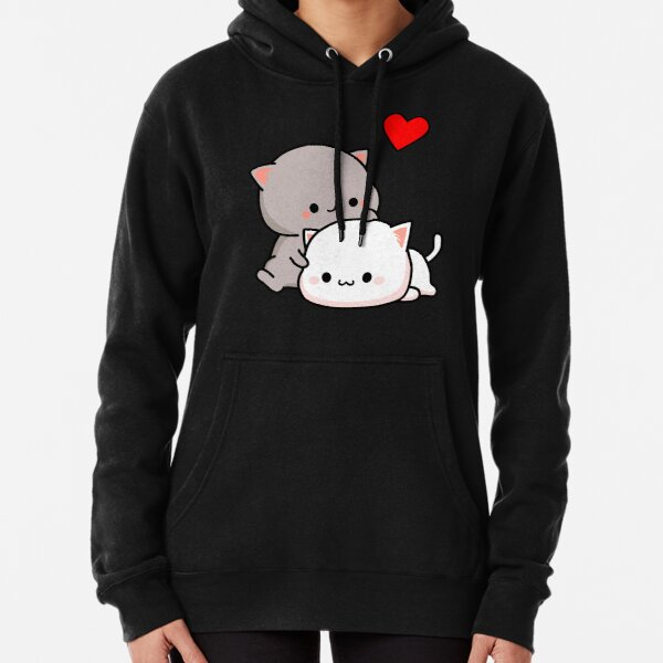 Peach Cat and Goma Love Never Fails Pullover Hoodie