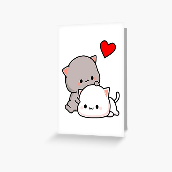 Peach Cat and Goma Love Never Fails Greeting Card
