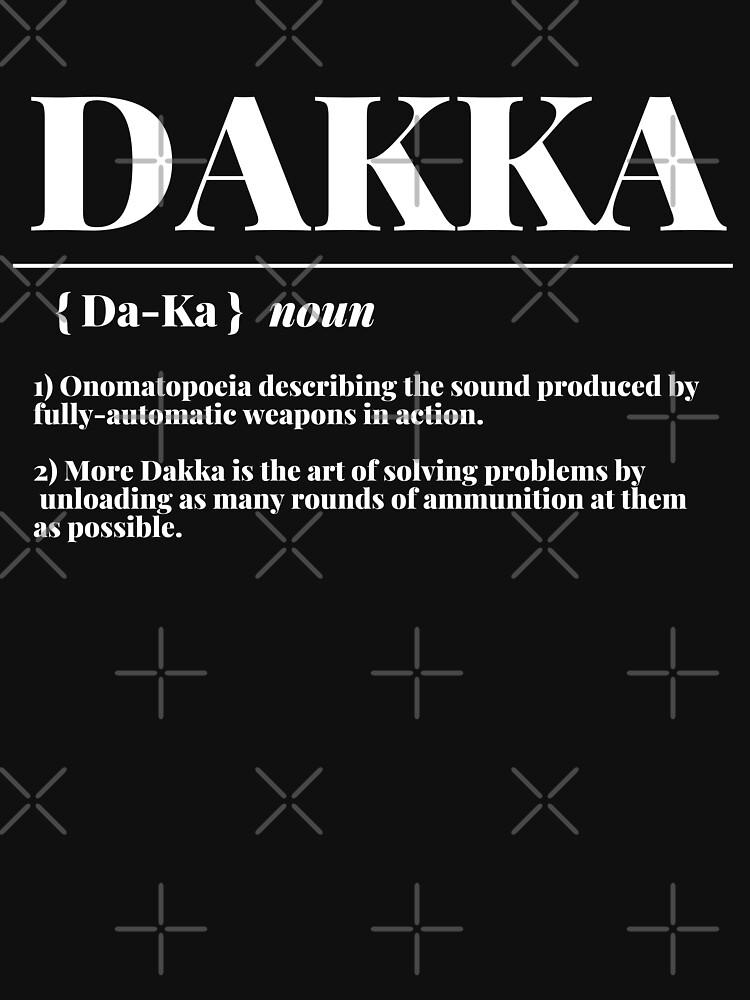 """Dakka"" 40k Ork Dictionary Definition Print by ToplineDesigns"