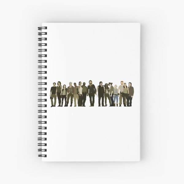 TWD CAST - SEASON 5 PORTRAIT  Spiral Notebook