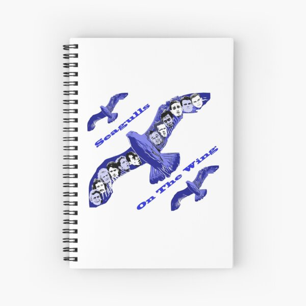 Seagulls on the Wing Spiral Notebook