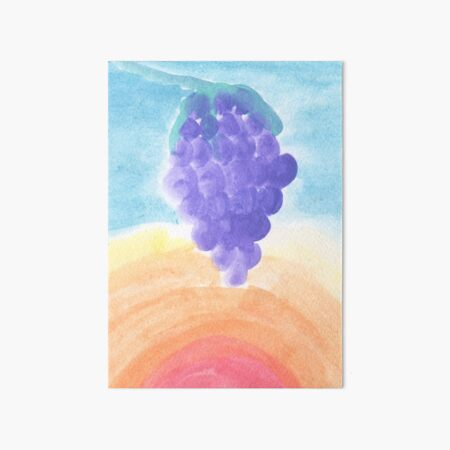 Grapes During a Hot Summer Day Art Board Print
