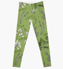Herb and Green Background Leggings