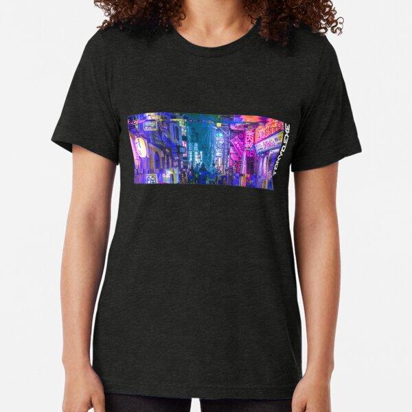 Tokyo Neo Future Cyberpunk Tri-blend T-Shirt