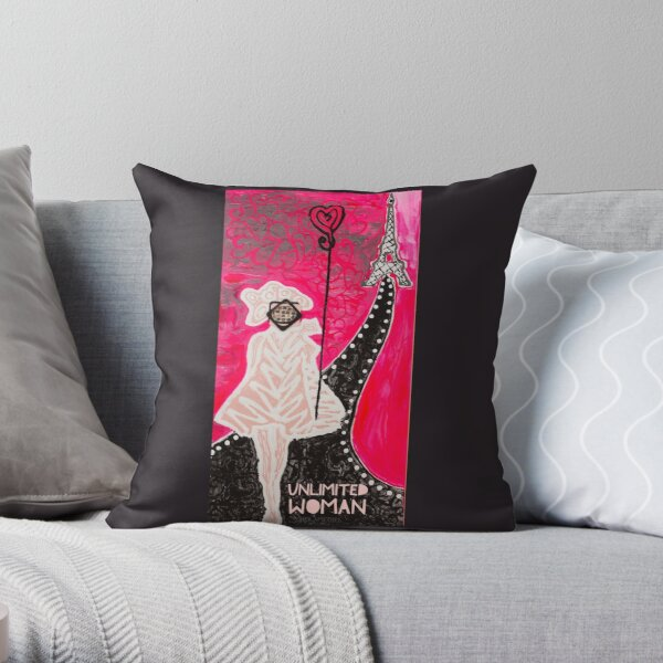 Unlimited Woman in Pink Throw Pillow