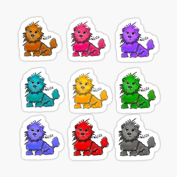 WatZit Enchanted Mythical Creatures in Rainbow Stickers Sticker