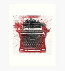 What Richard Castle Said 2.0 Art Print