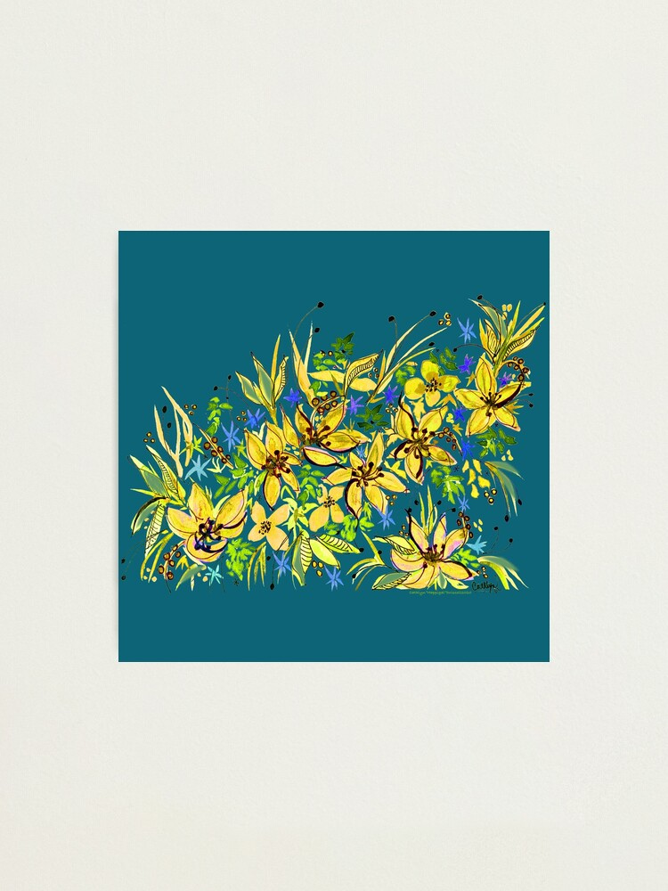 Alternate view of Hawaii Sings Yellow with Flowers Photographic Print