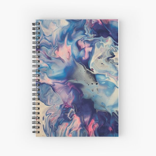 Colorful acrylic paint Spiral Notebook