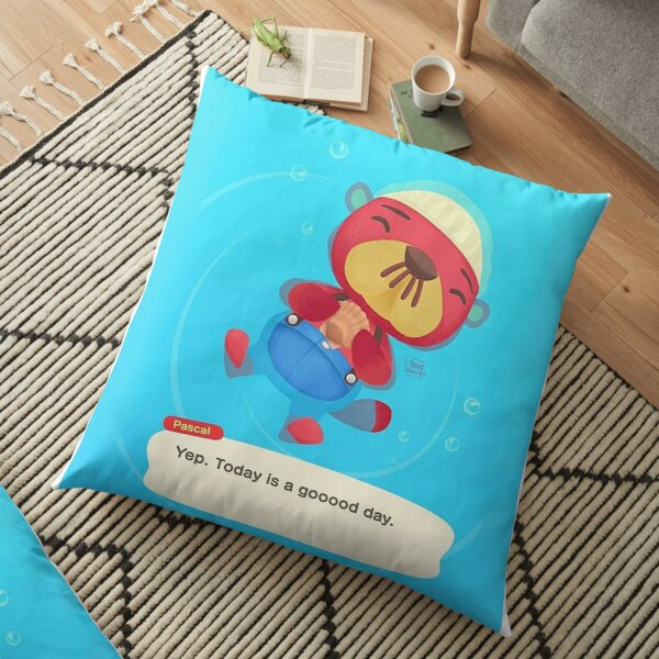 Pascal Animal Crossing Inspired Artwork ( Good Day )  Floor Pillow