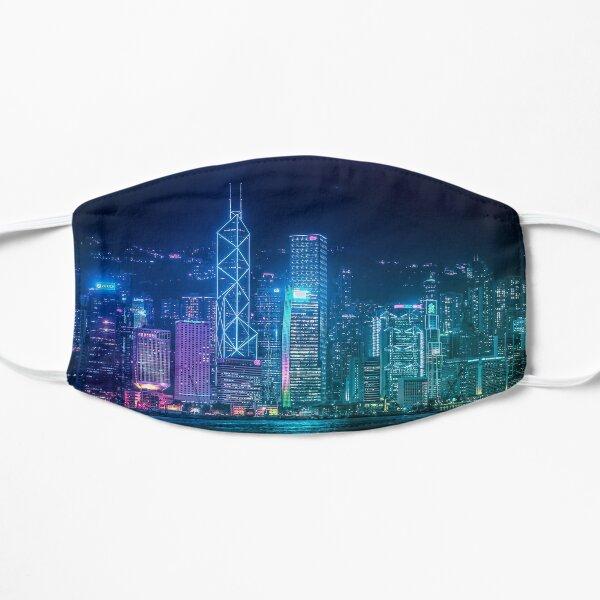Hong Kong Cityscape Flat Mask