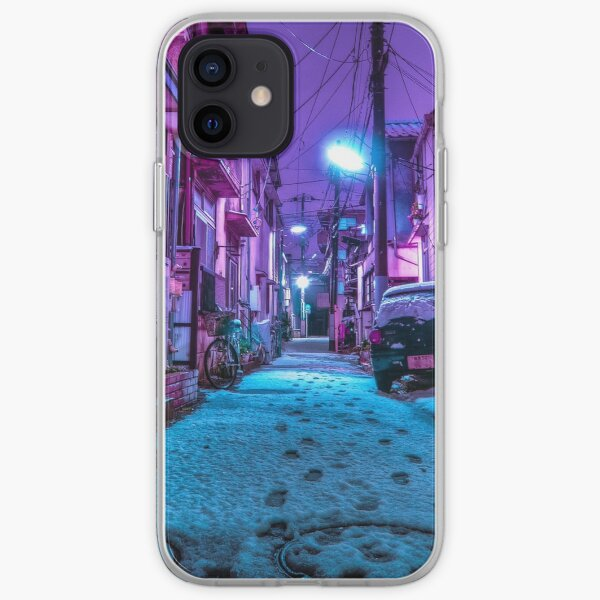 Snow covered Japanese street iPhone Soft Case