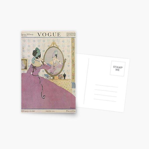 Portada de la revista Vogue Vintage - Febrero de 1918 Postal