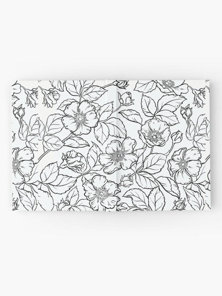 Vista alternativa de Cuaderno de tapa dura flores