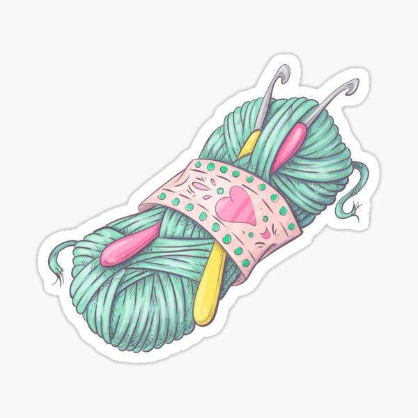 Crochet Sticker Sticker