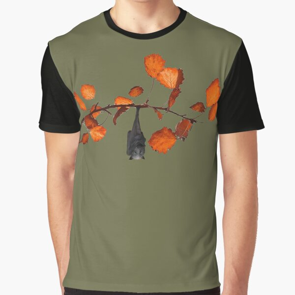Batzilla - Just Hanging Around (moss green) Graphic T-Shirt