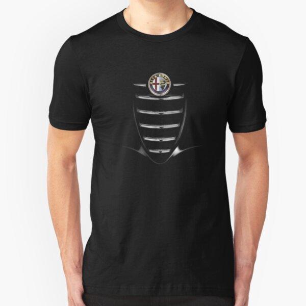 Car grid Slim Fit T-Shirt