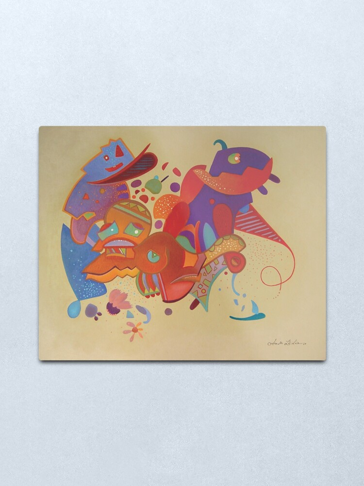Alternate view of Carnival of life, #fun at the #French #Riviera Metal Print