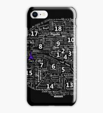 Paris Map typographic underground stations iPhone Case/Skin