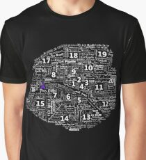Paris Map typographic underground stations Graphic T-Shirt