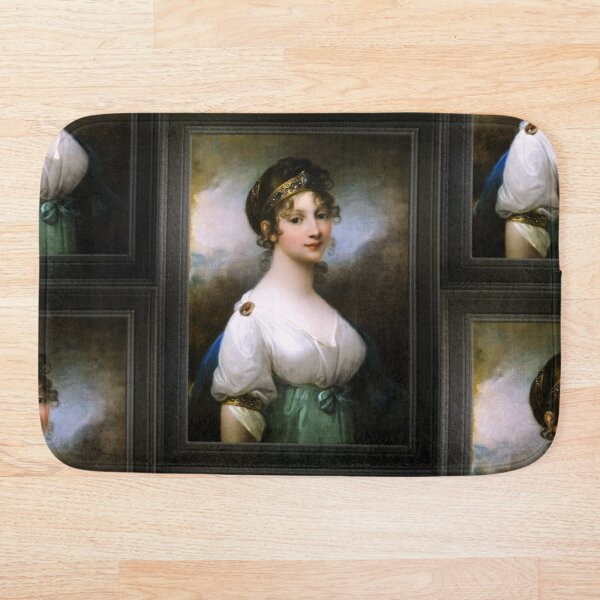 Portrait of Louise of Mecklenburg-Strelitz, Queen of Prussia by Josef Grassi Classical Fine Art Old Masters Reproduction Bath Mat
