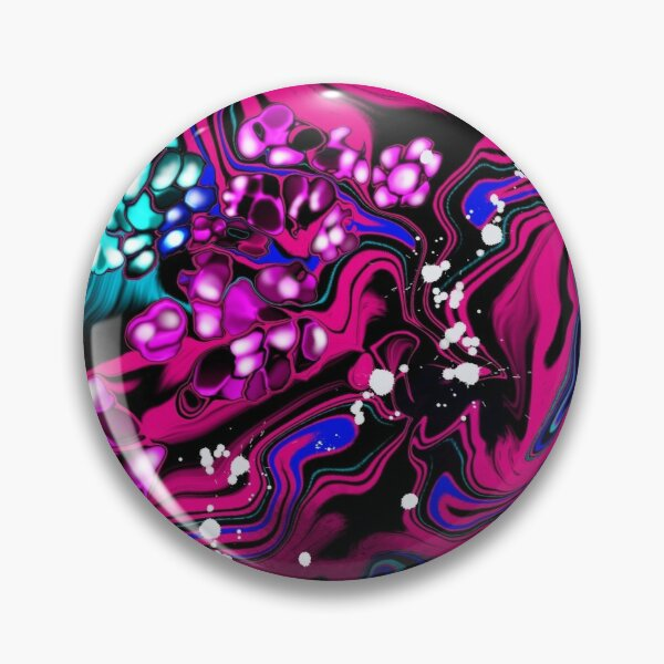 Burst - Procreate Acrylic Pour w/ Cells Pin