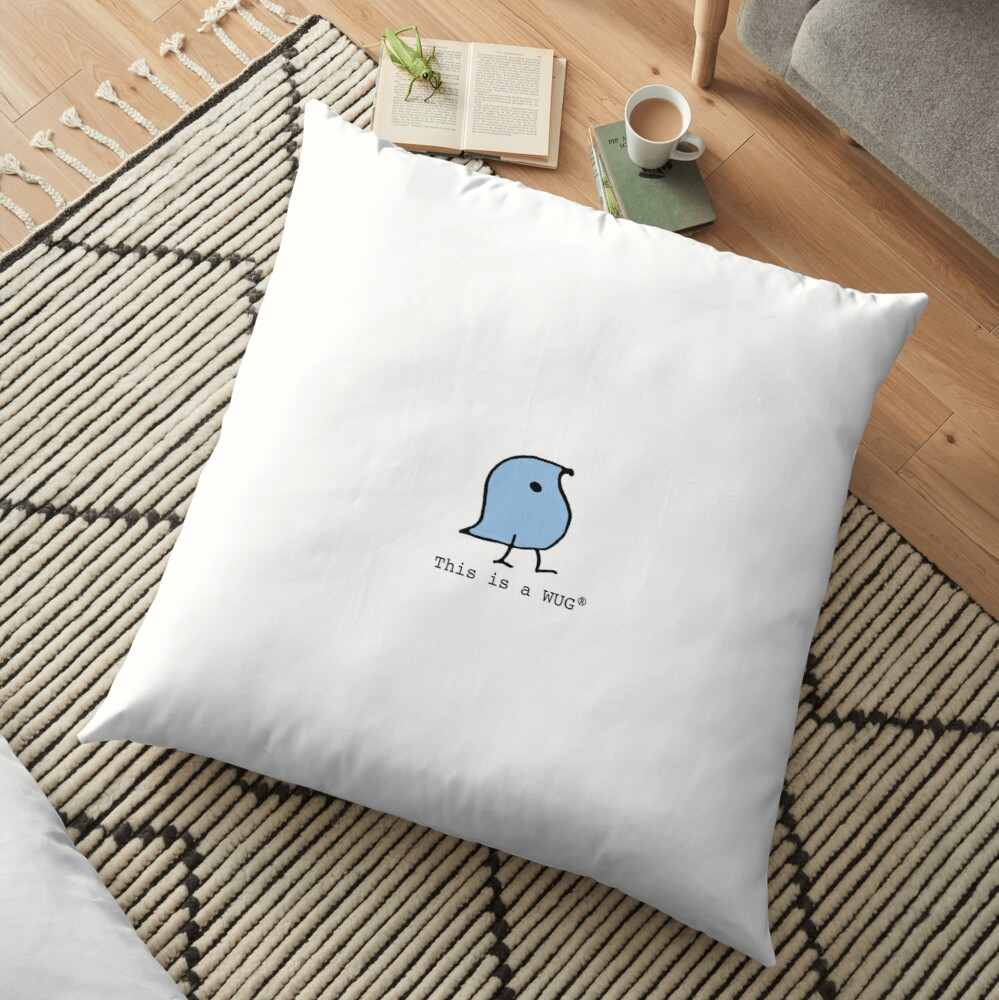 This is a WUG (R) Floor Pillow