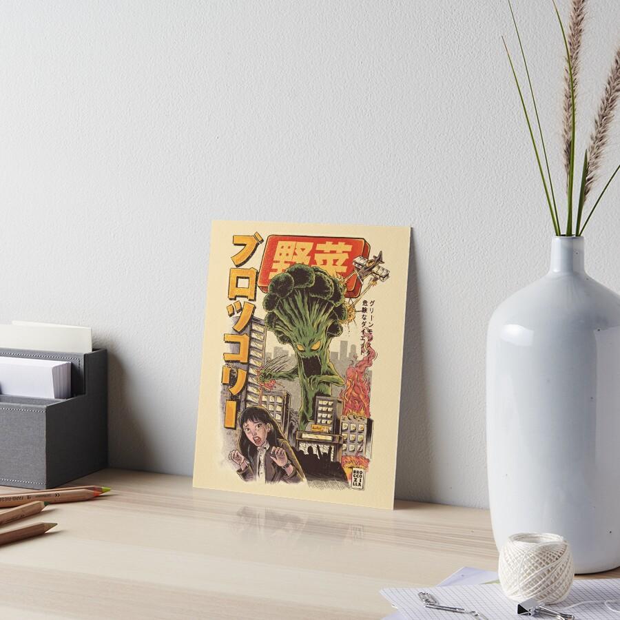 THE BROCCOZILLA Art Board Print