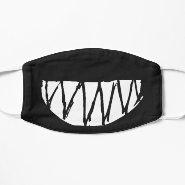 Crying bear, sharp teeth Flat Mask
