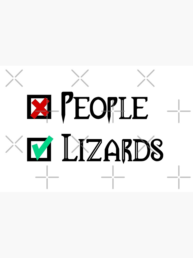 People - Nope, Lizards - Yes! by snibbo71
