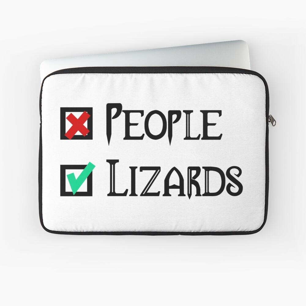 People - Nope, Lizards - Yes! Laptop Sleeve
