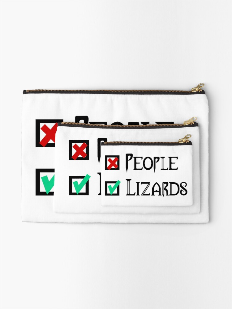 Alternate view of People - Nope, Lizards - Yes! Zipper Pouch