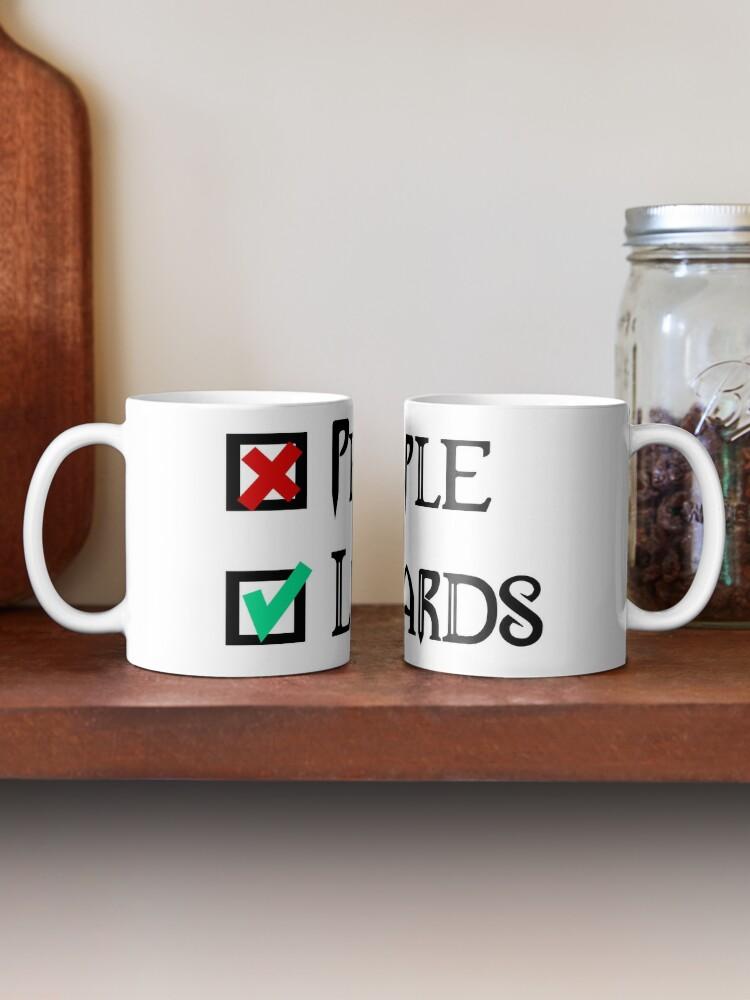 Alternate view of People - Nope, Lizards - Yes! Mug