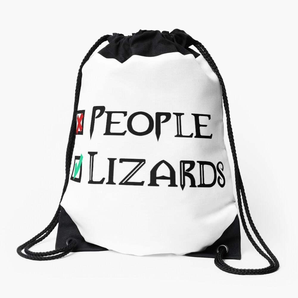 People - Nope, Lizards - Yes! Drawstring Bag