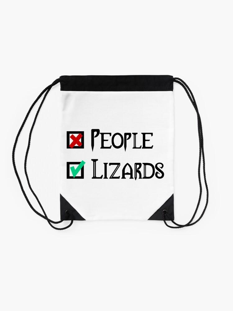 Alternate view of People - Nope, Lizards - Yes! Drawstring Bag