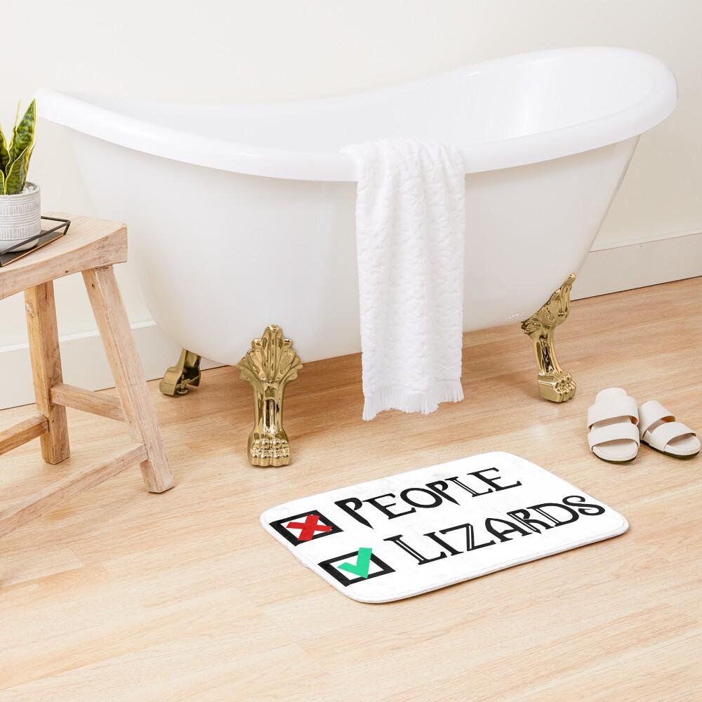 People - Nope, Lizards - Yes! Bath Mat