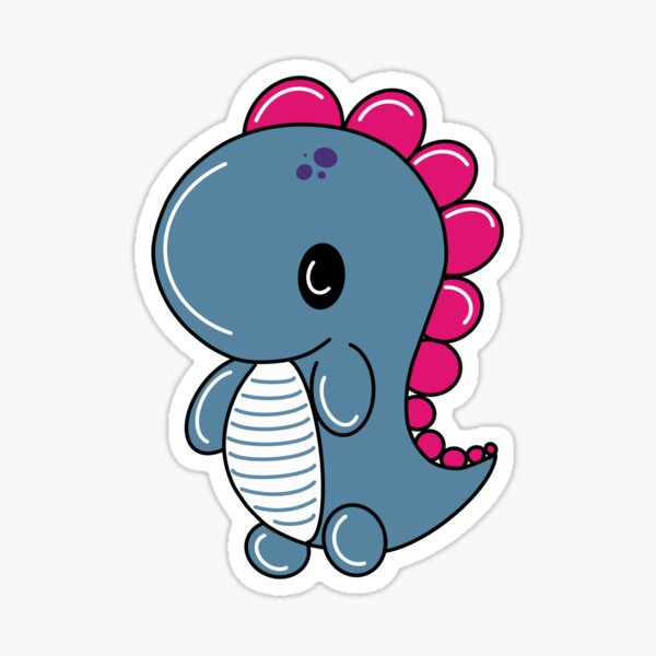 Dino Blue Sticker