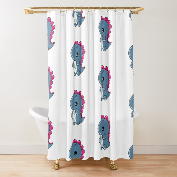 Dino Blue Shower Curtain