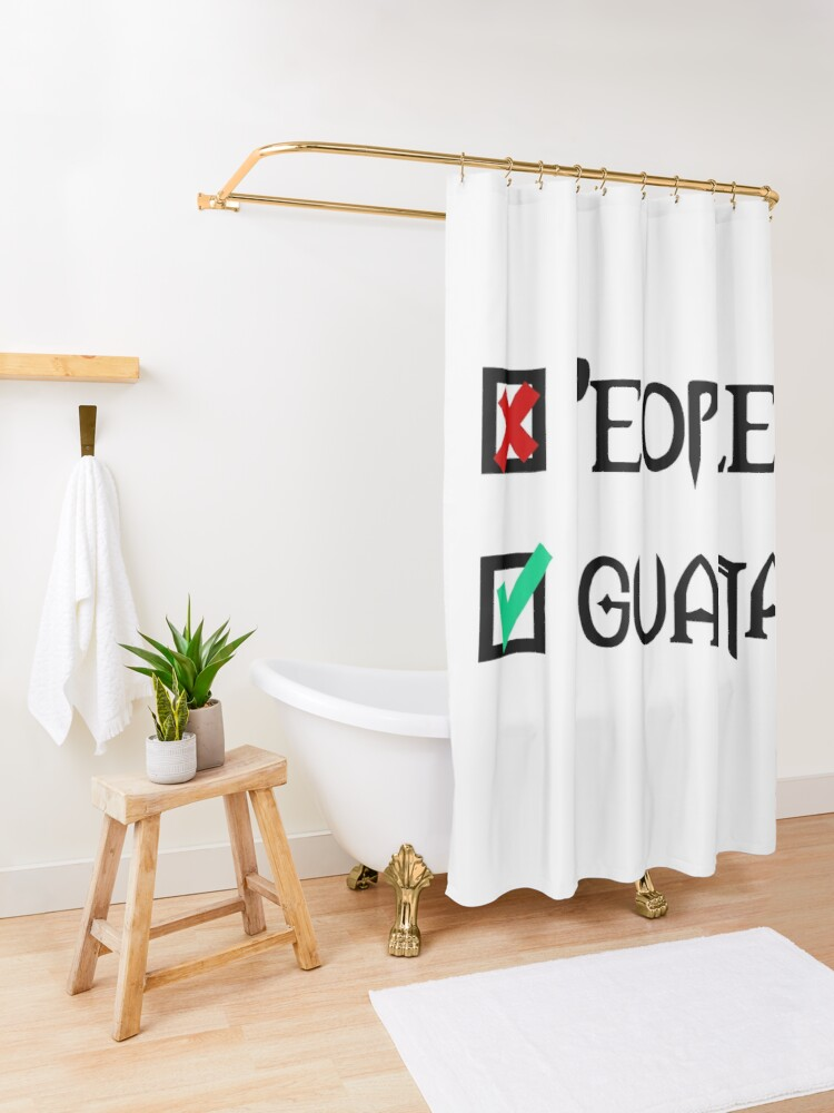 Alternate view of People - Nope, Iguanas - Yes! Shower Curtain