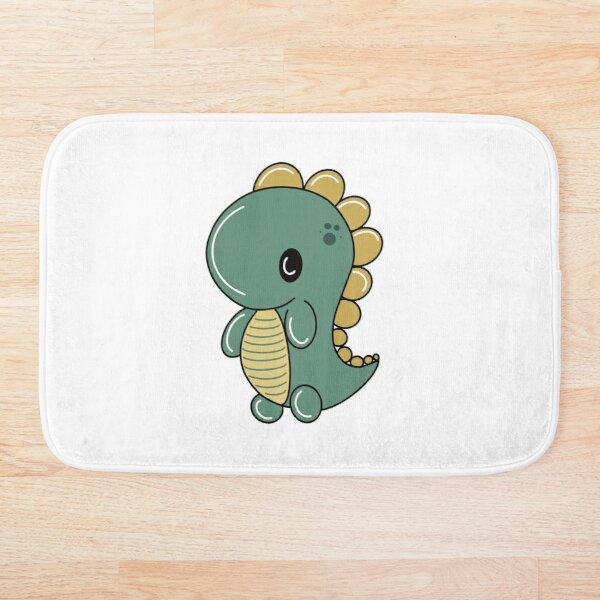 Dino Green Bath Mat