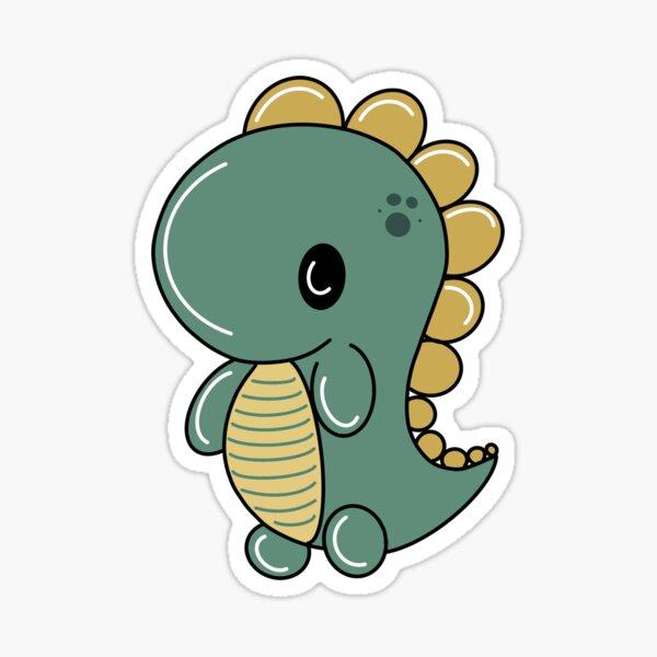 Dino Green Sticker