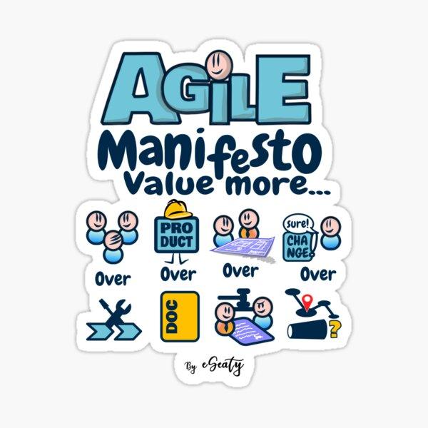 Agile Manifesto, Value More ... Sticker