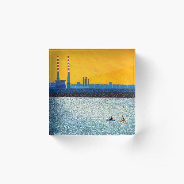 Poolbeg, Kayakers, Sunlight  (Dublin, Ireland) Acrylic Block