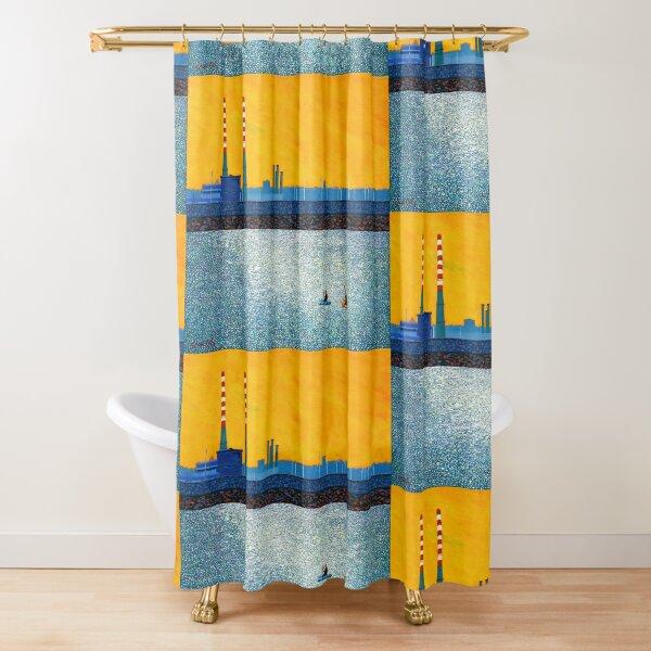 Poolbeg, Kayakers, Sunlight  (Dublin, Ireland) Shower Curtain