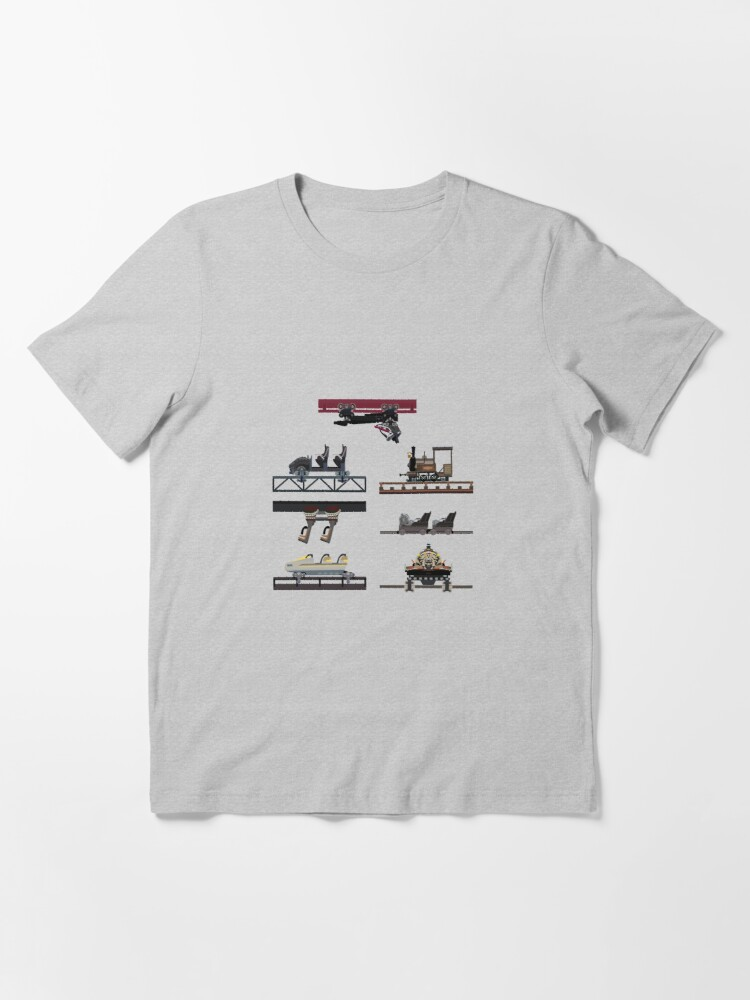 Alternate view of Phantasialand Coaster Cars Design V2 - With F.L.Y Essential T-Shirt