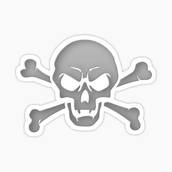 Scowling Skull Sticker
