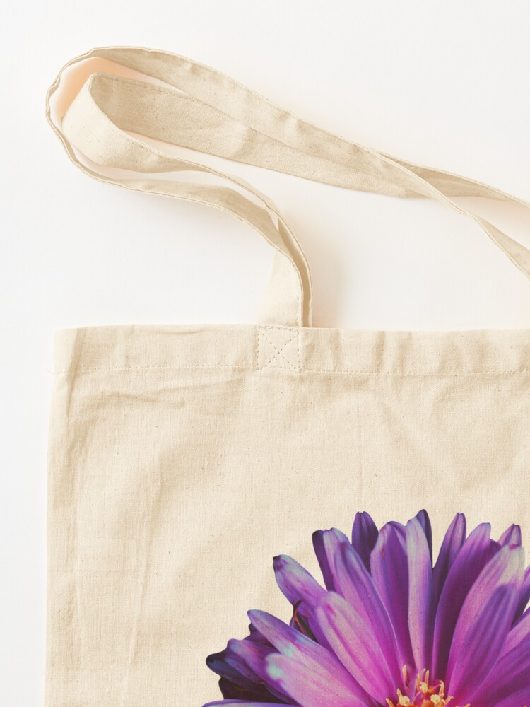 Alternate view of Wild purple african daisy flower photo Tote Bag