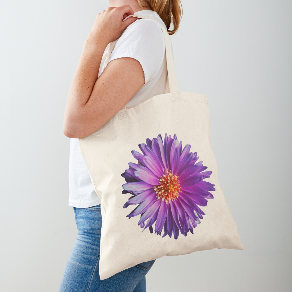 Wild purple african daisy flower photo Tote Bag