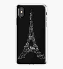 Typographic Eiffel Tower iPhone Case/Skin