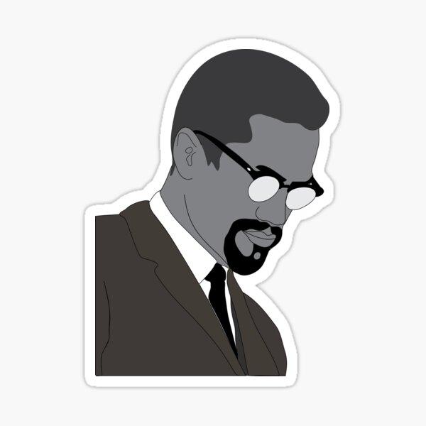 Malcolm X Sticker